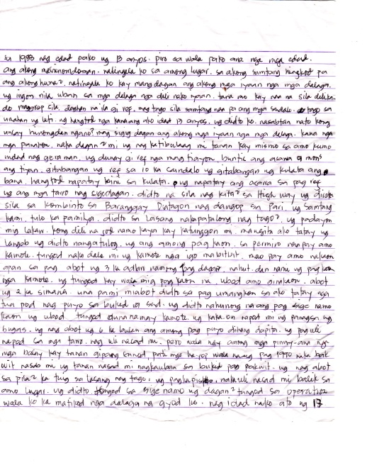 Lumad Letter Page 1